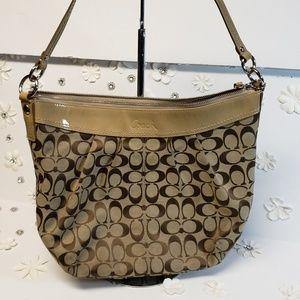 Coach patent And canvas handbag